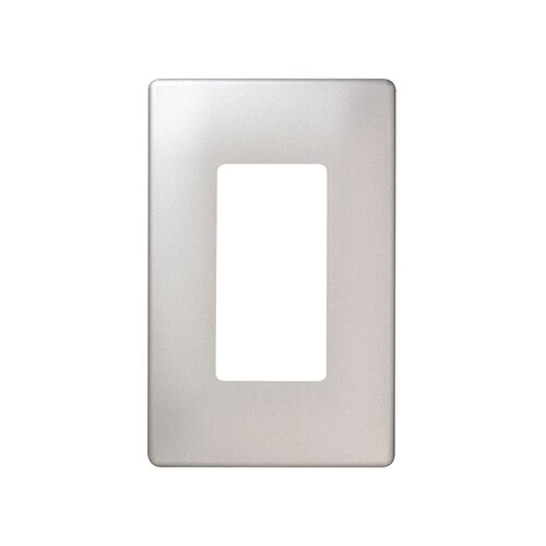Legrand Single Gang Decorator Screwless Wall Plate in Stainless steel