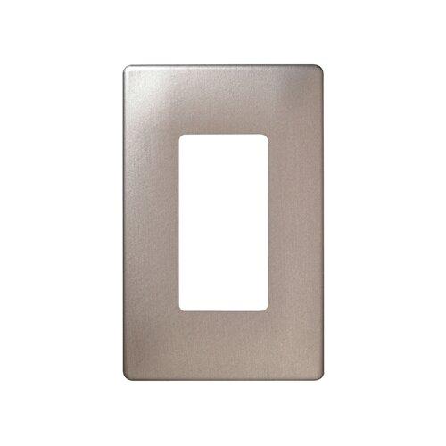 Legrand Single Gang Decorator Screwless Wall Plate in Brushed nickel