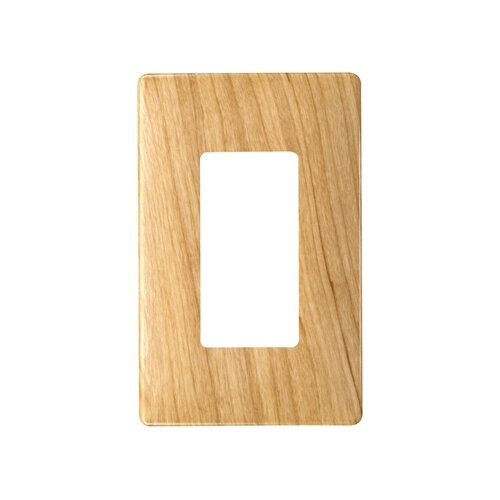 Legrand Single Gang Decorator Screwless Wall Plate in Metal maple