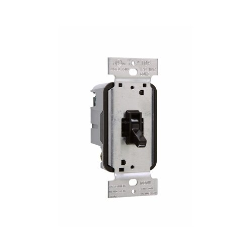 Legrand TradeMaster 1000W Single Pole Toggle Dimmer with Housing in Brown