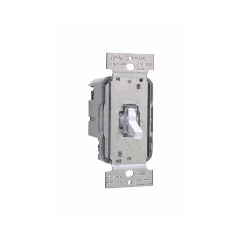 Legrand TradeMaster 600W Lighted Three Way Toggle Dimmer in Ivory