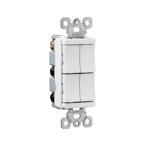 Legrand TradeMaster 15A120V Decorator Four Single Pole Switches in Ivory
