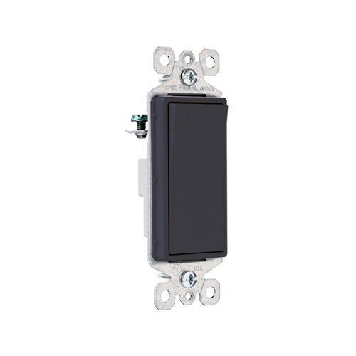 Legrand TradeMaster 15A120V Decorator Switch Single Pole in Black