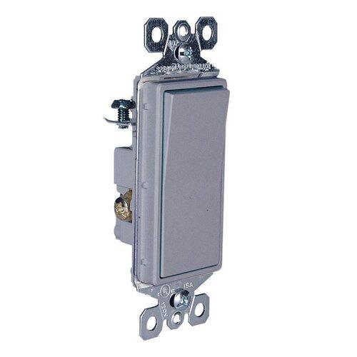 Legrand TradeMaster 15A120V Decorator Switch Three Way in Gray