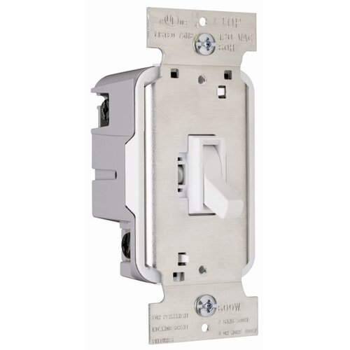Legrand TradeMaster 600W Three Way Toggle Dimmer with Housing in White