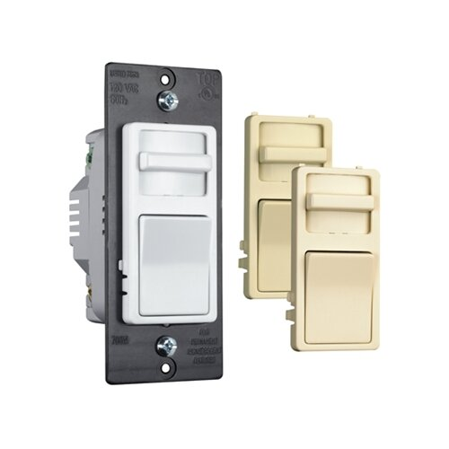 Legrand Decorator Three Way Magnetic Low Voltage Slide Dimmer with Interchangeable Faces Preset