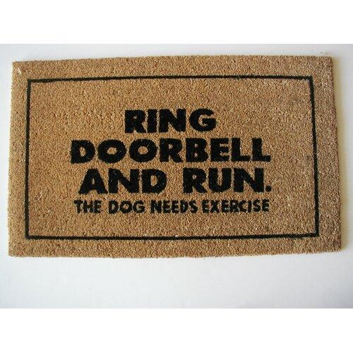 Geo Crafts, Inc Ring Door Bell Doormat