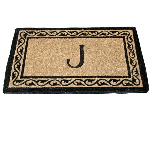 Creel Ivy Border Monogram Coco Doormat
