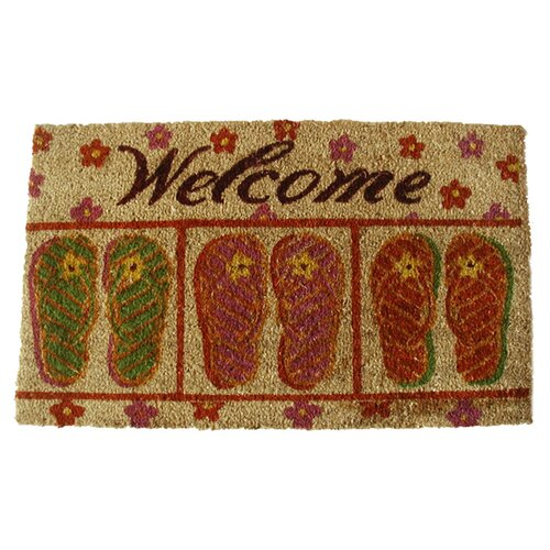 Geo Crafts, Inc Flip-Flop Welcome Doormat