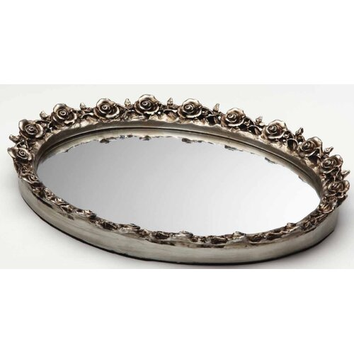 Taymor Industries Inc. Antique Oval Resin Mirror Tray