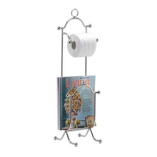 Taymor Industries Inc. Combination Magazine Rack and Toilet Tissue Holder