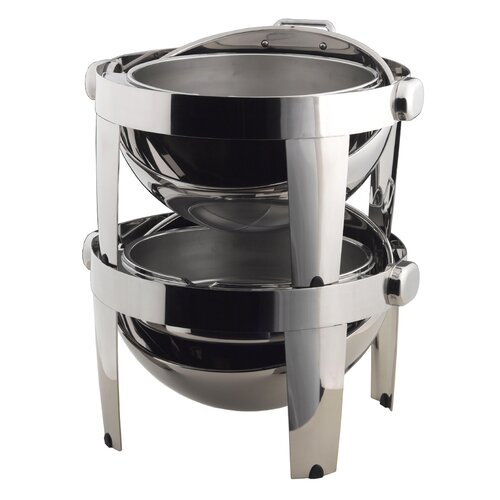 SMART Buffet Ware IBIS Stackable Round Chafing Dish with Heater and Spoon Holder