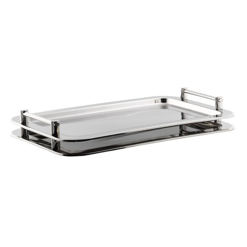 SMART Buffet Ware Rectangular Stackable Serving Tray with Handles