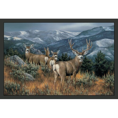 Custom Printed Rugs Wildlife Last Glance Mule Deer Novelty