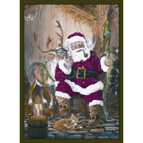 Custom Printed Rugs Home Accents Santa and Reindeer Novelty Rug