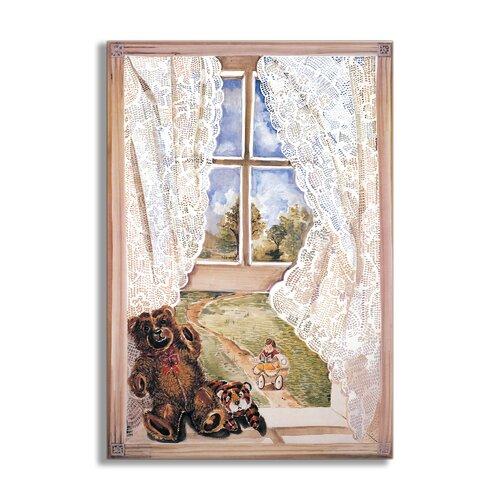 Teddy Bear Painting Print Plaque