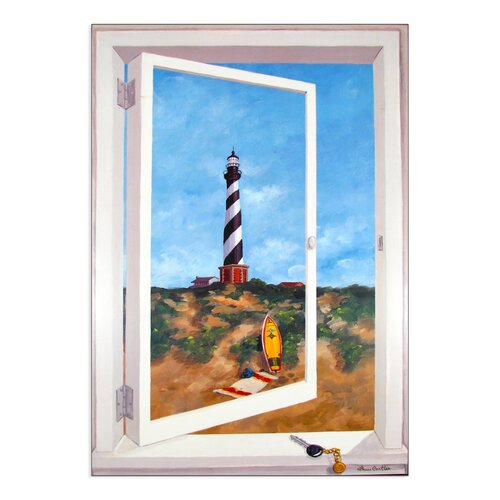 Cape Hatteras Lighthouse Painting Print Plaque