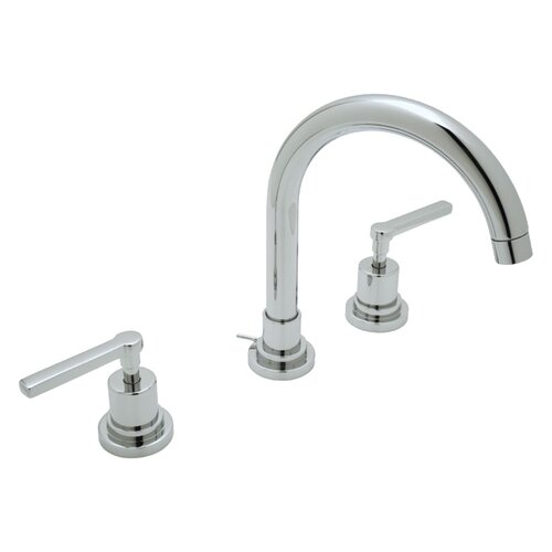Lombardia Double Handle Widespread Bathroom Faucet with Lever Handle and Pop-Up Drain