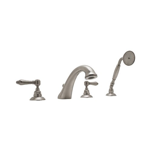 Rohl Rohl A1464LM Country Bath Roman Tub Faucet with Metal Lever Handles and Single Function Hand Shower