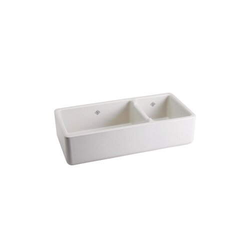 Rutherford Bowl Plain Apron Front White Fireclay Kitchen Sink