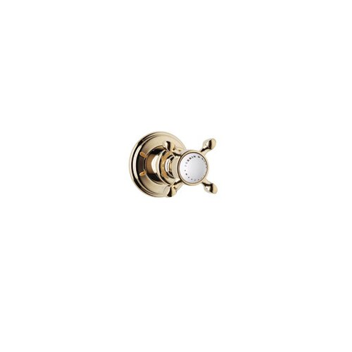 Rohl Volume Control Faucet Shower Faucet Trim Only with Cross Handle