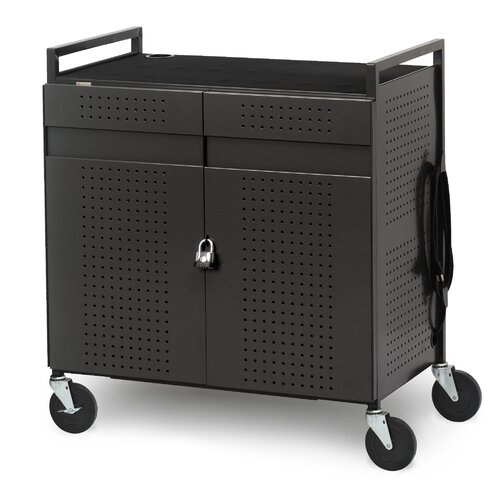 Bretford Manufacturing Inc 32-Compartment Basic Micro Computer Netbook Storage Cart