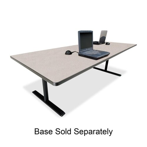 "Bretford Manufacturing Inc Rectangular Conference Table,42""x120""x29"",Gray Nebula"