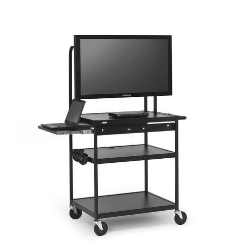 Bretford Manufacturing Inc Cart with Laptop Shelf for Flat Panels