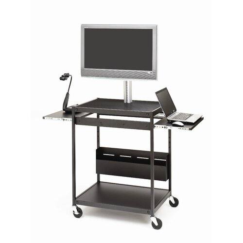 Bretford Manufacturing Inc Flat Panel Cart with Open-Shelf