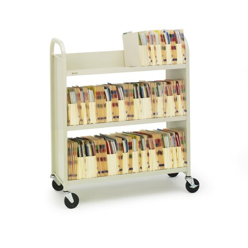 "Bretford Manufacturing Inc Duro Series Three Shelf Booktruck, 31"" Wide"