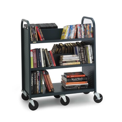 Bretford Manufacturing Inc Book Utility Truck with Five Shelves