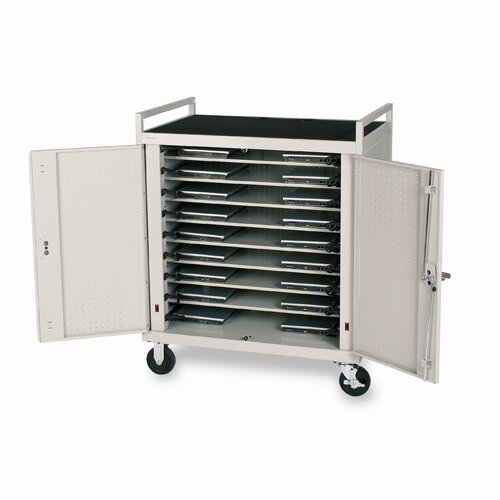 Bretford Manufacturing Inc 18-Compartment Laptop Cart