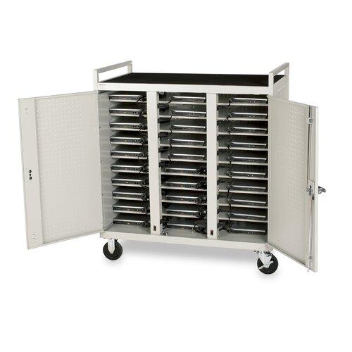 Bretford Manufacturing Inc 30-Compartment Laptop Cart