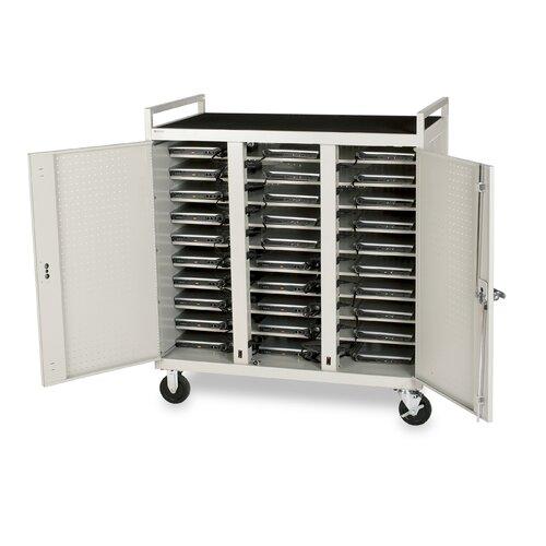 Bretford Manufacturing Inc 30-Compartment Laptop Cart