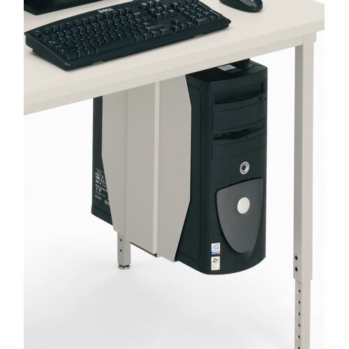 Bretford Manufacturing Inc Adjustable Tower CPU Holder for Rectangle Quattro Computer Tables