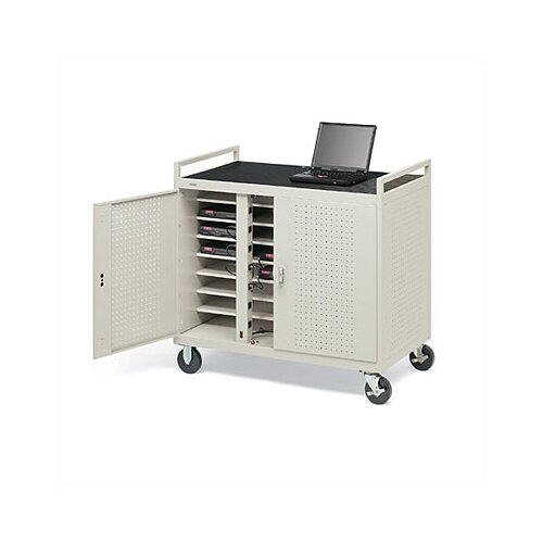 Bretford Manufacturing Inc 24-Compartment Welded Computer Cart