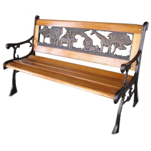 jungle cast iron park bench wayfair