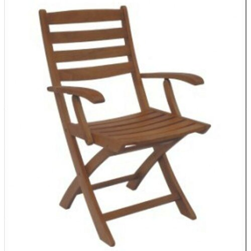 DC America Sequoia Folding Dining Arm Chair