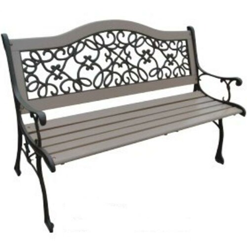 DC America Dollar Wood and Cast Iron Park Bench