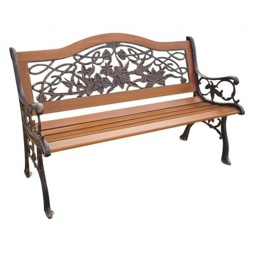 Iron outdoor benches wayfair - Wood and iron garden bench ...