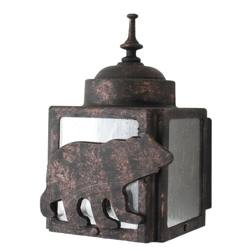 Melissa Lighting Americana Bear Series Wall Lantern
