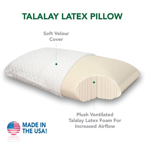 Plush Talalay Latex Foam Pillow