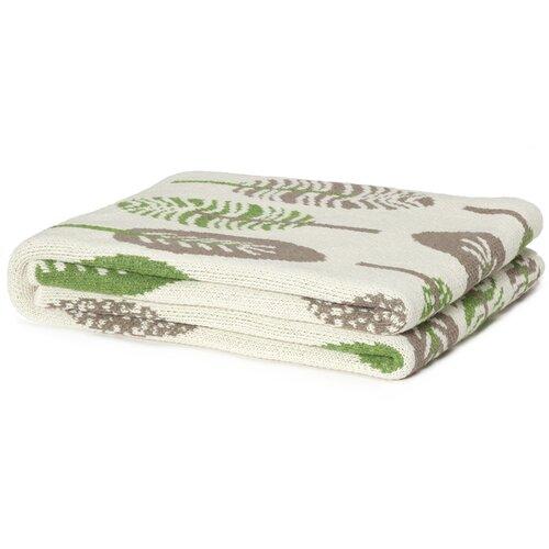 Eco Designer Mod Leaf Throw Blanket