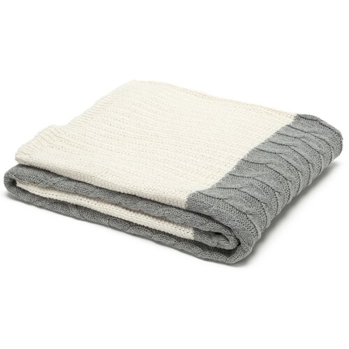 Eco Designer Patchwork Cable Throw Blanket