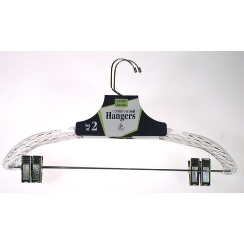 Merrick Crystal Cut Suit Hanger