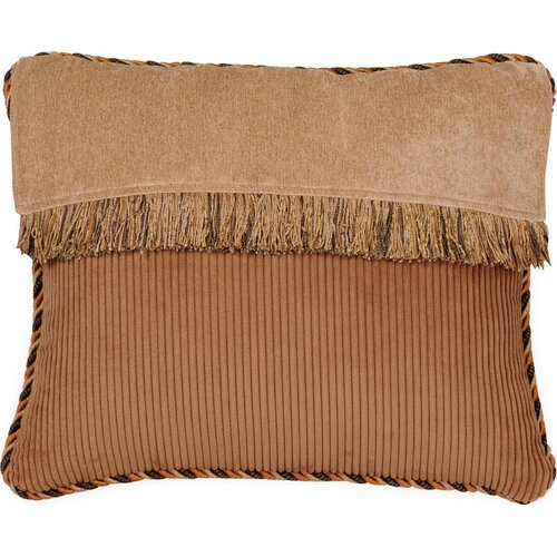 Jennifer Taylor Woodland Synthetic Pillow with Cord and Brush Fringe