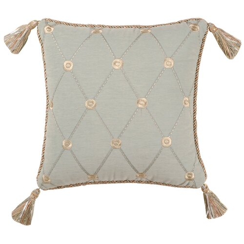 Jennifer Taylor Savannah Synthetic Pillow with Tassel and Cord