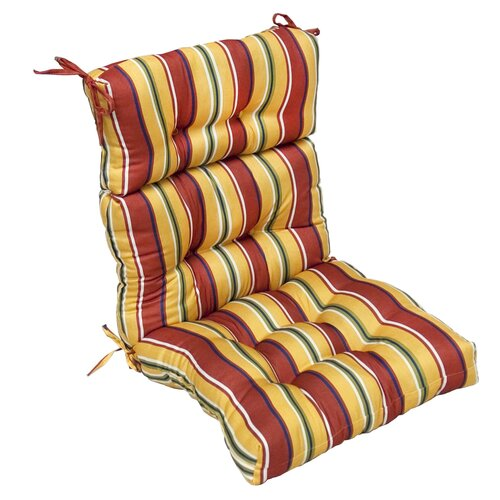 Greendale Home Fashions Outdoor High Back Chair Cushion