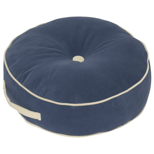 Greendale Home Fashions Hyatt Fabric Round Floor Nylon Pillow