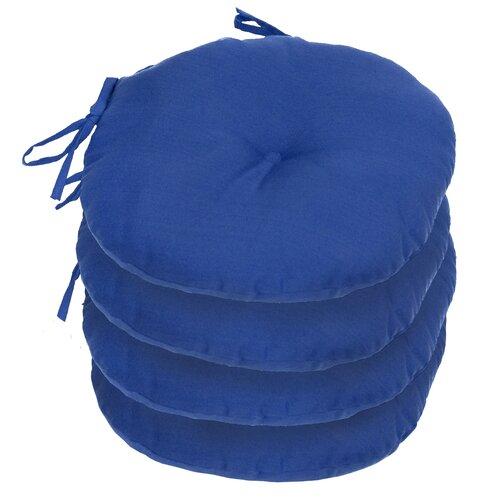 Outdoor Round Bistro Chair Cushion (Set of 4)